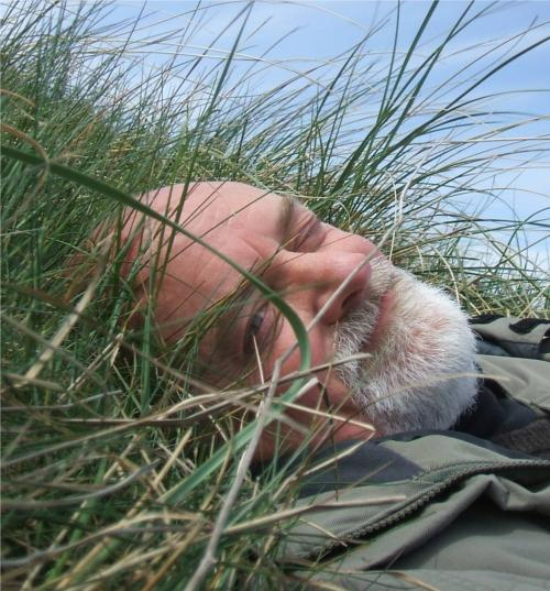 Steve squinting in marram grass